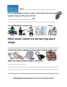 Education and Training Career Cluster Worksheet