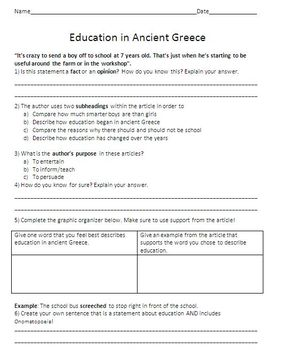 Education in Ancient Greece