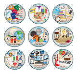 Education subject icons