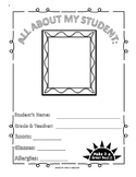 Educational Assistant Sub Plan (Black & White) Pages