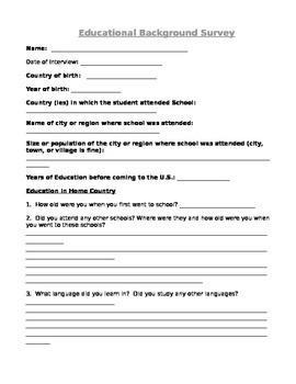 Educational Background Survey