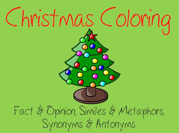 Educational Christmas Coloring
