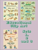 Educational Clip Art – Verbs – Doing Words - Combined Sets 1, 2 and 3