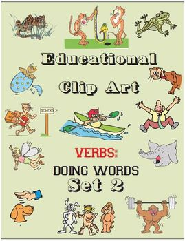 Educational Clip Art - Verbs - Doing Words - Set 2