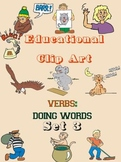 Educational Clip Art - Verbs - Doing Words - Set 3