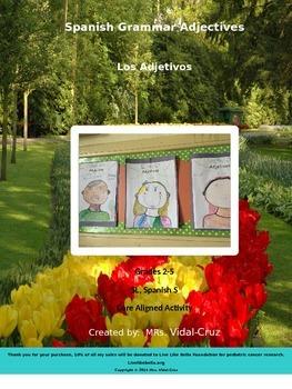 Educational Fun Spanish Grammar Adjectives Activity-Los Adjetivos