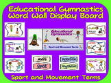 Educational Gymnastics Word Wall Display: Sport, Graphics & Movement Terms