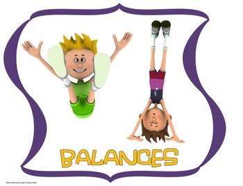 Educational Gymnastics Word Wall Display: Sport, Graphics & Movement Terms