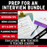 Preparing for an Interview Questions Tips & Planning Guide Bundle