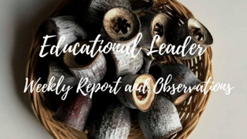 Educational Leader - Weekly report and Observation Templates, ECE, EYLF, NQS