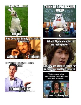 Educational Meme's for Easter Egg Hunt