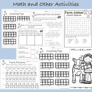 Non-Fiction Farm Animal Thematic Unit *Math, Literacy, Science and Fun work*
