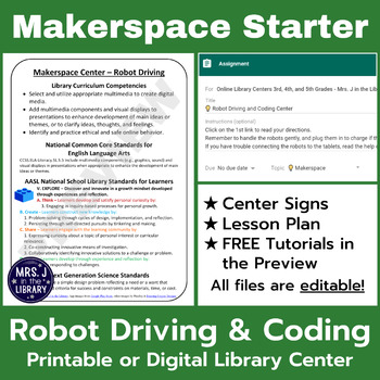 Educational Robots Driving & Coding Makerspace or Library Center {Elementary}