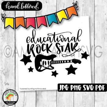 Educational Rockstar SVG Design