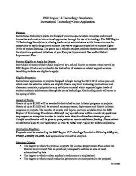 Educational Service Center ipad grant application