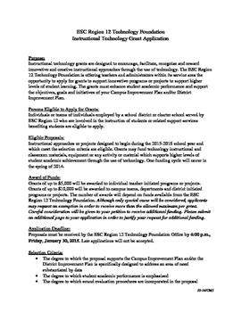 Educational Service Center ipad grant application