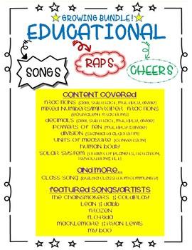 GROWING BUNDLE: Educational Songs, Raps and Cheers
