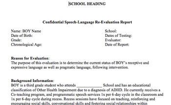Educational Speech-Language Re-evaluation using The Listen