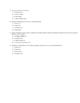 Educational Statistics practice quiz