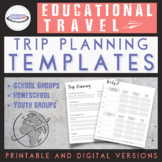 Educational Travel Adventures Planning Templates {Digital