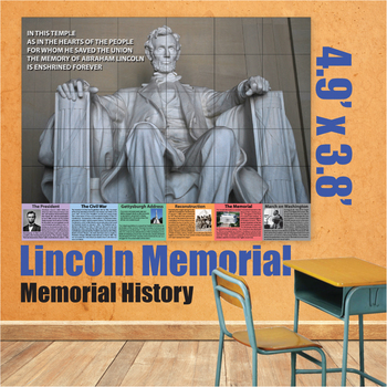 Educational Wall Art - Lincoln Memorial by Donald\'s English Classroom