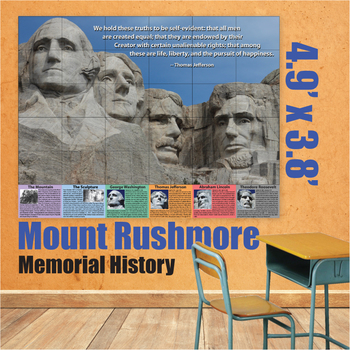 Educational Wall Art - Mount Rushmore by Donald\'s English Classroom