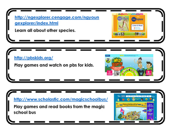 Educational Website Cards