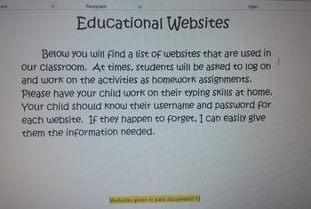 Educational Websites for Parents - Handout