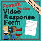 Educational Video Response in French - Great for Substitut