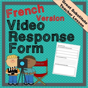 Educational video response in French