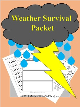Educational weather survival packet