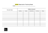 Educator/Child Observation Tracking Sheet
