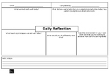 Educator Daily Reflection Template