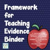 Framework for Teaching Evidence Collection Binder