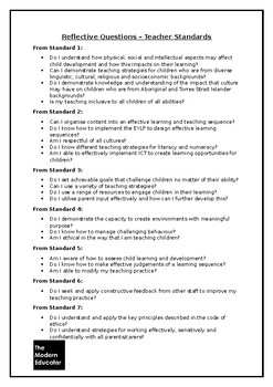 Educator Reflective Questions