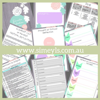 Educators Reflective Diary, Supports EYLF & NQF