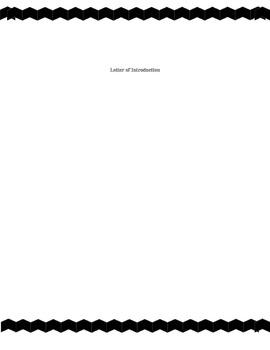 Educators Resume Template BLACK, GRAY, & RED CHEVRON BORDER & POLKA DOT PAGES
