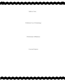 Educators Resume Template CHEVRON BORDER & POLKA DOT PAGES
