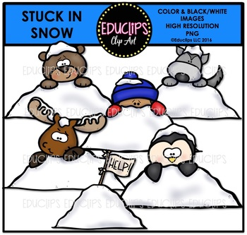 stuck in snow clip art mini bundle educlips clipart by educlips rh teacherspayteachers com clipart of snowflake clipart of snow white