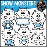 Snow Monster Clip Art Mini Bundle {Educlips Clipart}