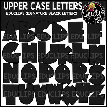 Educlips Signature Letters - Black Clip Art Set {Educlips Clipart}