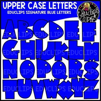 Educlips Signature Letters - Blue Clip Art Set {Educlips Clipart}