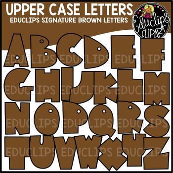 Educlips Signature Letters - Brown Clip Art Set {Educlips Clipart}
