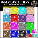 Educlips Signature Upper Case Letters Mega Bundle {Educlips Clipart}