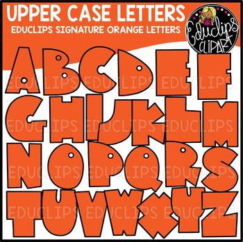 Educlips Signature Letters - Orange Clip Art Set {Educlips Clipart}