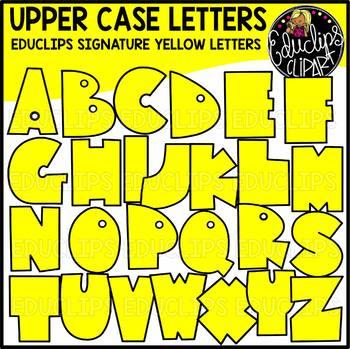 Educlips Signature Letters - Yellow Clip Art Set {Educlips Clipart}