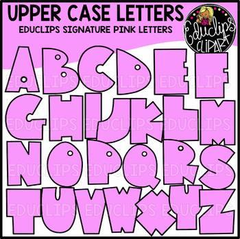 Educlips Signature Letters - Pink Clip Art Set {Educlips Clipart}