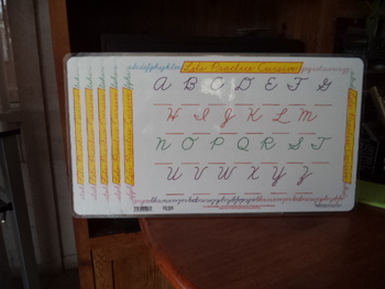 Edumats  LET'S PRACTICE CURSIVE  (Zaner-Bloser) (Set of 5)