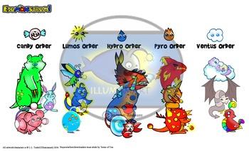 Edumonstrum ORIGINAL Anime Monster Clip-Art Set! 30 Pc./BW and Color!