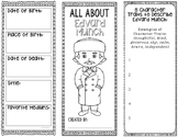 Edvard Munch - Famous Artist Biography Research Project, Interactive Notebook